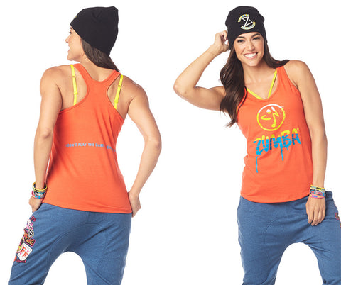 Zumba Fitness Dripping in Zumba Loose Tank - Cha Cha Cherry