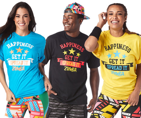 Zumba Fitness Zumba Happiness Tee T-Shirt