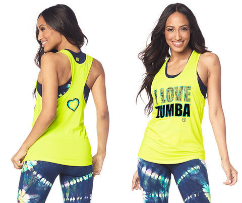 Zumba Fitness I Love Zumba Tank - Caution