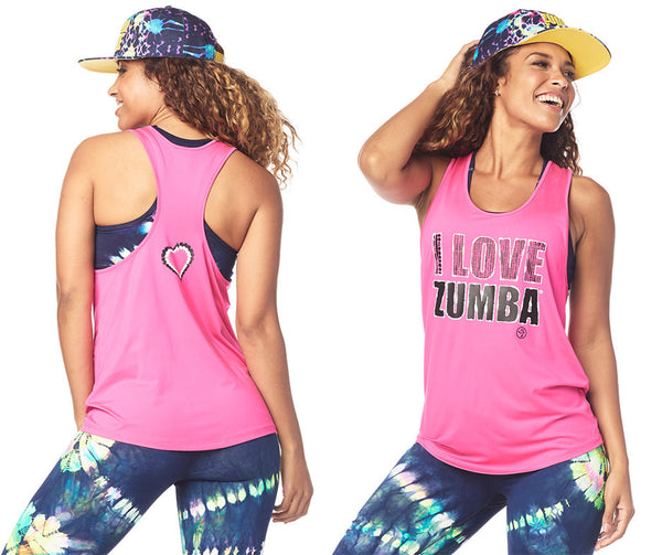 Zumba Fitness I Love Zumba Tank - Shocking Pink