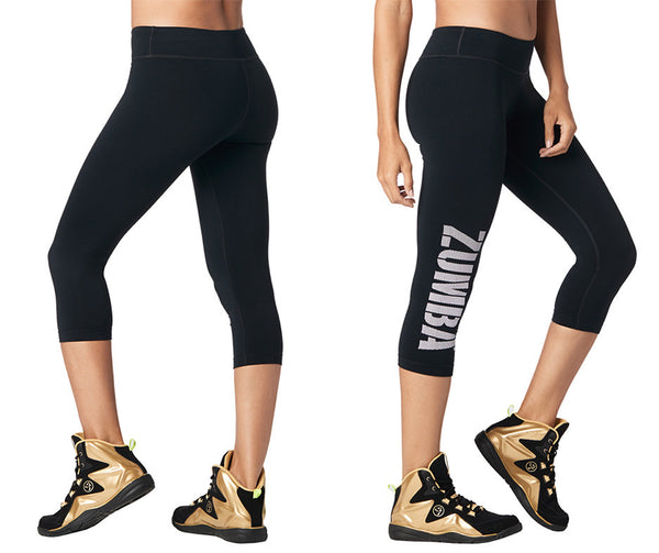 Zumba Fitness Zumba For All Perfect Capri Leggings - Bold Black