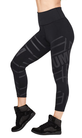 Zumba Fitness All That Glitters Is Zumba High Waisted Crop Leggings - Bold Black