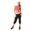 Zumba Fitness Chill the Funk Out Capris - Sew Black