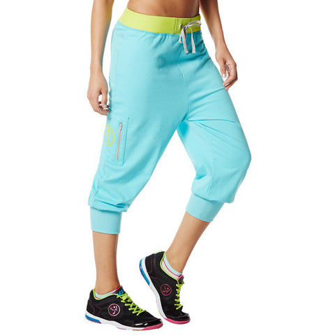 Zumba Fitness Chill the Funk Out Capris - Deep Blue Sea