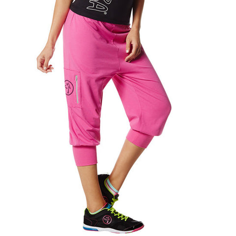 Zumba Fitness Chill the Funk Out Capris - Pin a Rose