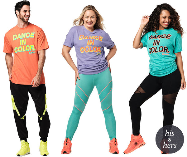 Zumba Fitness Dance In Color Tee T-Shirt