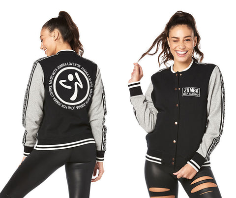 Zumba Fitness Keep Dancing Bomber Jacket - Bold Black