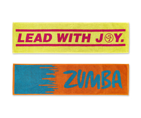 Zumba Fitness Lead With Joy Fitness Towel