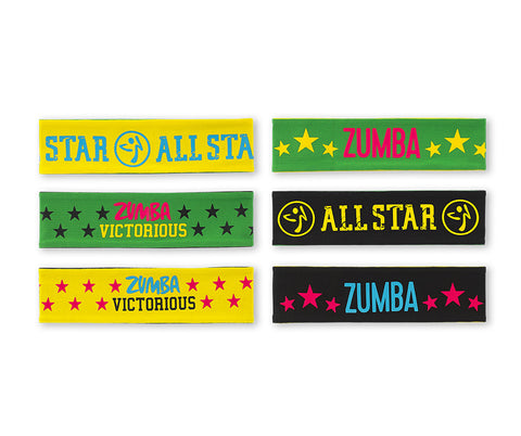 Zumba Fitness MVP Reversible Headbands 3 PK