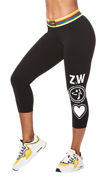 Zumba Fitness Next Level Capri Leggings - Bold Black
