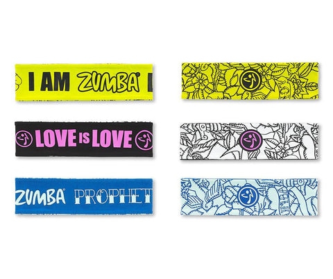 Zumba Fitness Reversible Headbands 3 PK