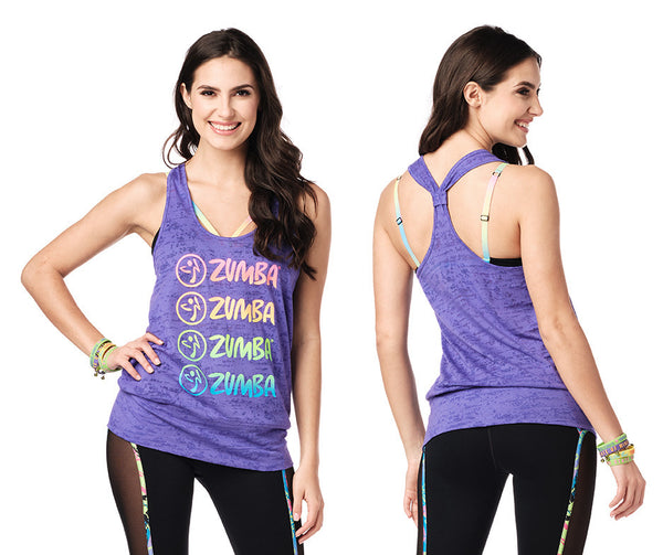Zumba Fitness Smile Bubble Tank - Purple Pop