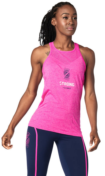 Zumba Fitness STRONG By Zumba Seamless Tank - Shocking Pink