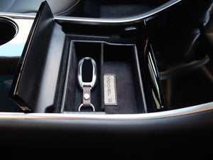 Premium Vegan Tesla Model 3 & Y Center Console Storage Cubby1