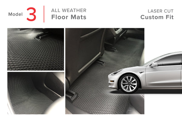 Tesla Model 3 All Weather Floor Mats -- Introductory Pricing!