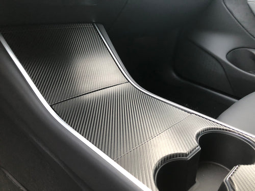 Model 3 Center Console Vinyl Wrap Protector Kit - Pre-Order Pricing