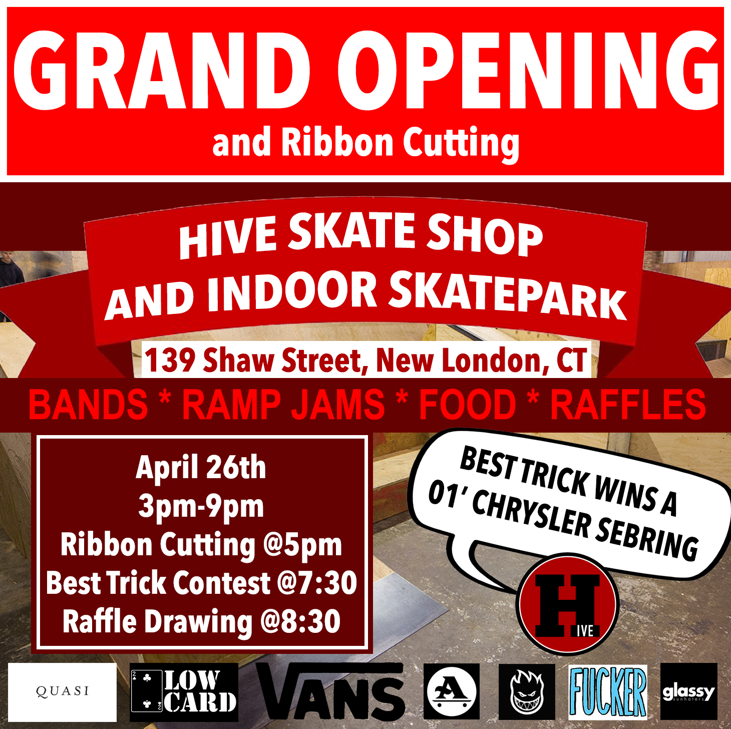 Indoor Skatepark Grand Opening and Ribbon Cutting