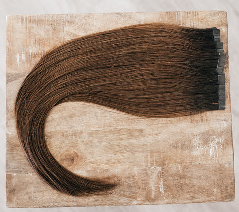 "18"" Tape-In Rooted #1B/4 (Black Brown/Brown)"