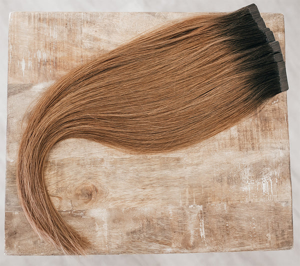 "18"" Tape-In Rooted #2/6 (Dark Brown/Light Brown)"