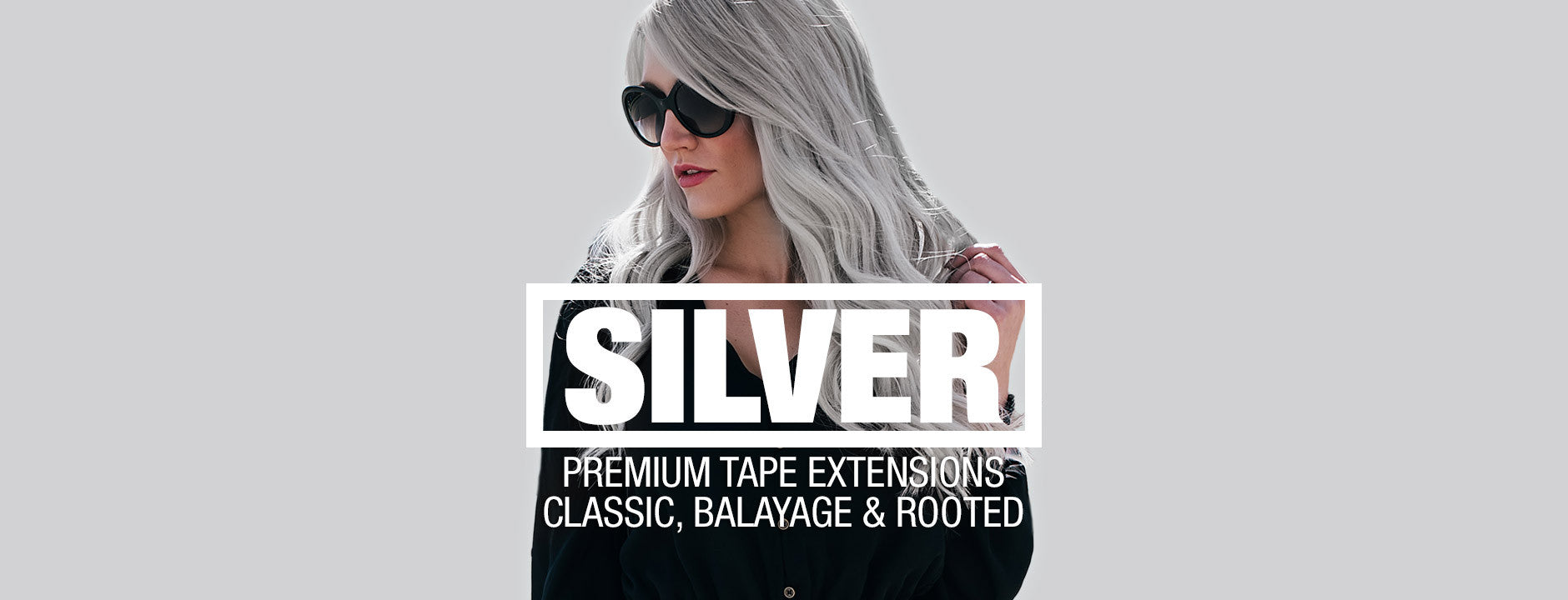 Silver hair extensions