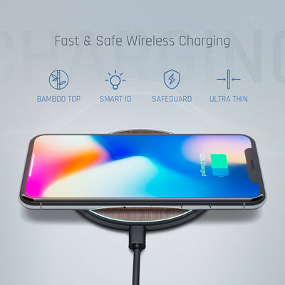 Qi Charger - Dark Bamboo