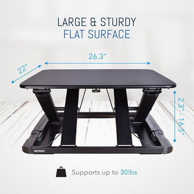 Desktop Stand Up Desk - Black