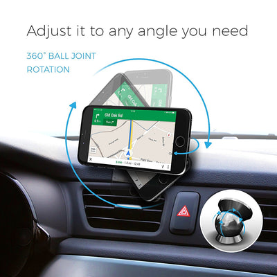 UltraSlim Magnetic Car Dash Mount - Grey