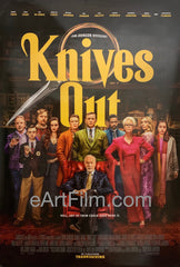 Knives Out 2019 27x40 Daniel Craig whodunnit All Star Cast Rian Johnson