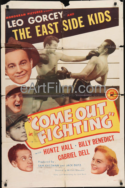 Come Out Fighting-East Side Kids-Leo Gorcey-Huntz Hall-boxing comedy-1945-27x41 Addison Richards, Amelia Ward, Billy Benedict, Boxing, Comedy, East Side Kids, Gabriel Dell, George Meeker, Huntz Hall, June Carlson, Leo Gorcey, Thanksgiving