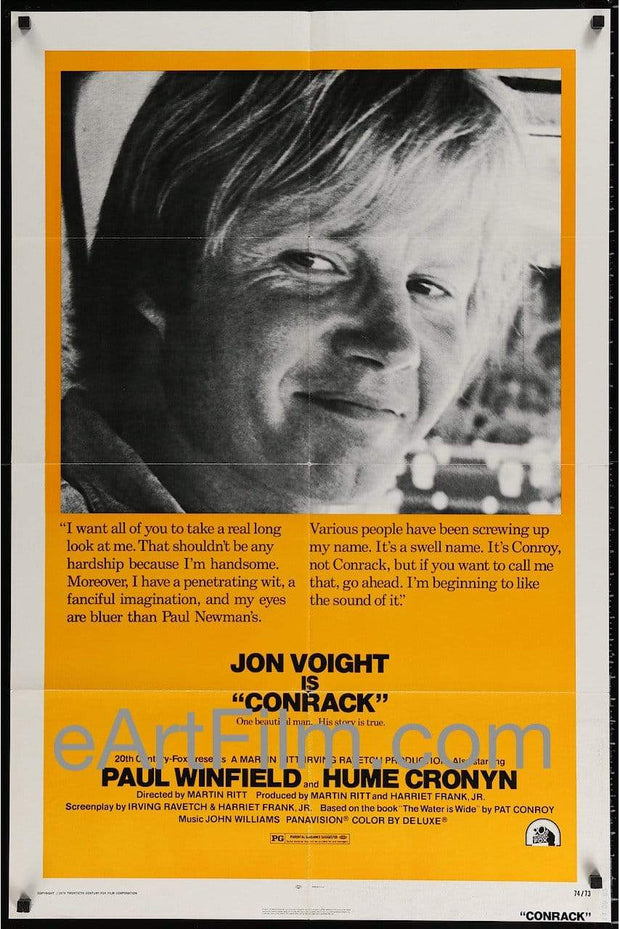 Conrack 1974 27x41 Jon Voight Paul Winfield Madge Sinclair Hume Cronyn