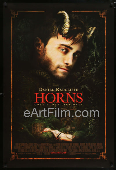 Horns-Daniel Radcliffe-Heather Graham-James Remar-Kathleen Quinlan-Adv-27x40 _related_daniel-radcliffe, _related_frederick-elmes, Daniel Radcliffe, Drama, Fantasy, Frederick Elmes, Heather Graham, Horror, James Remar, Kathleen Quinlan