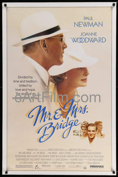 Mr. and Mrs. Bridge-1990-27x41-Paul Newman-Joanne Woodward _related_blythe-danner, _related_paul-newman, Austin Pendleton, Blythe Danner, Books, Drama, Joann Woodward, Joanne Woodward, Johnny Mercer, Merchant Ivory, Mothers Day, Paul Newman