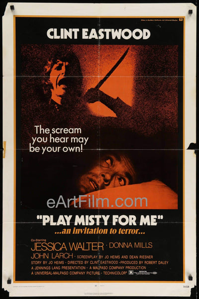 Play Misty For Me-Clint Eastwood-Jesssica Walter-Don Siegel-1971-27x41