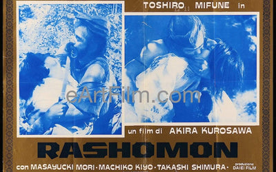 Rashomon-Akira Kurosawa-Toshiro Mifune-R1960's-18.75 x25.75-Italian Photobusta _related_akira-kurosawa, _related_international, Akira Kurosawa, Classics, Crime, Drama, International, Japanese, Toshiro Mifune, vintage japanese movie posters