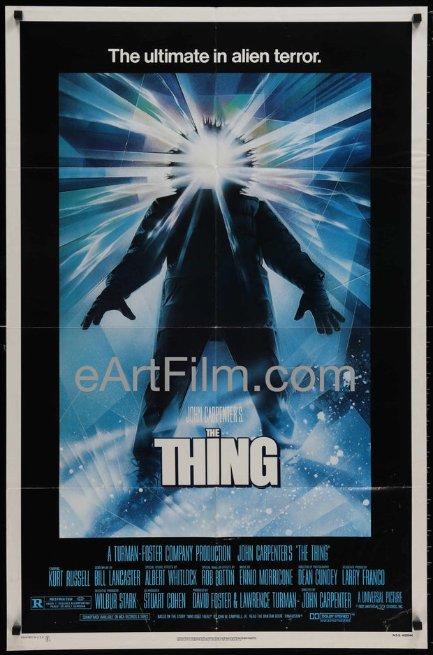 Thing, The original movie poster John Carpenter's sci-fi horror classic 27x41 1982