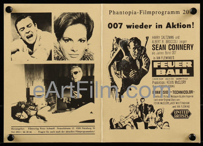 Thunderball-Sean Connery-James Bond 007-German R80's film program-4pgs