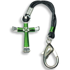 Zipper Pull Horseshoe Nail Cross with Large 15 mm. Lobster Clasp