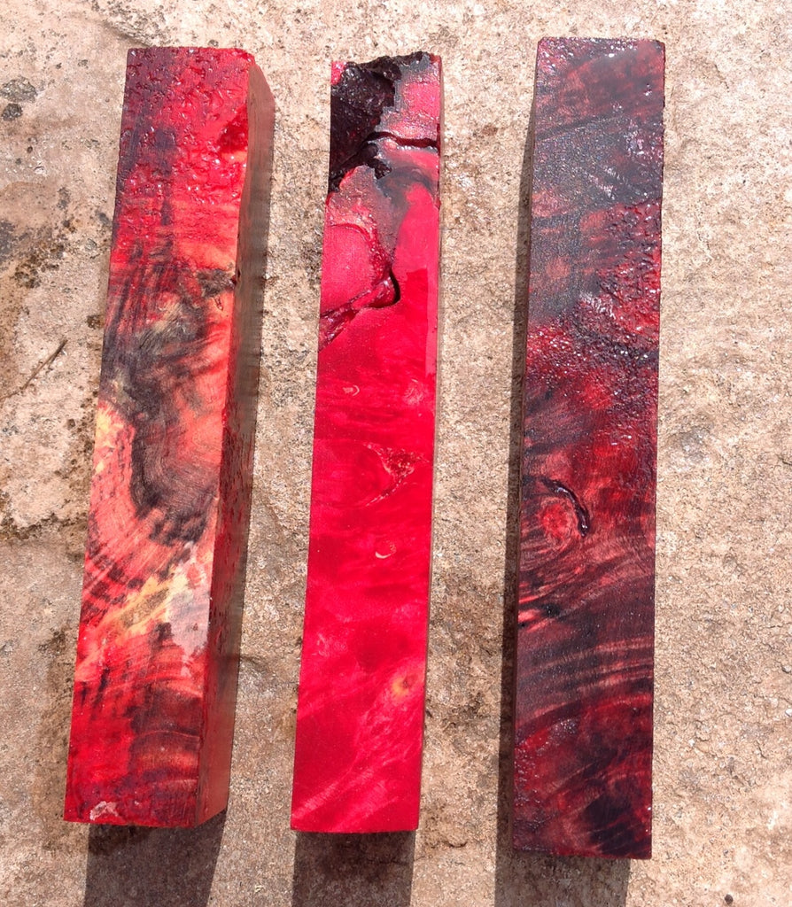 Stabilized Dyed Buckeye Burl-Long length - pengeapens