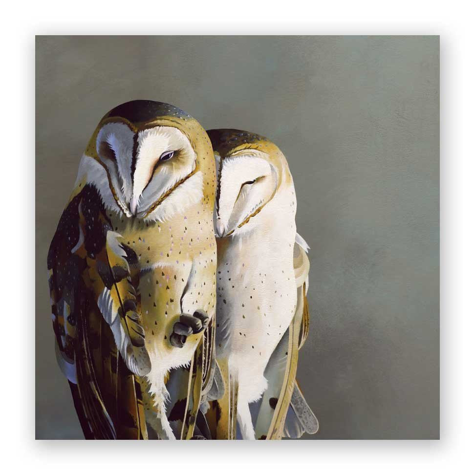 Barn Owl Pair - Wings on Wood®