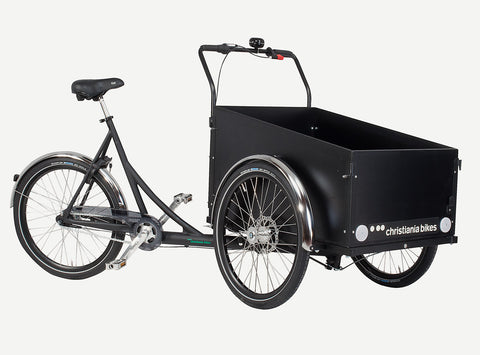 Black Christiania Model Light Cargo Bike