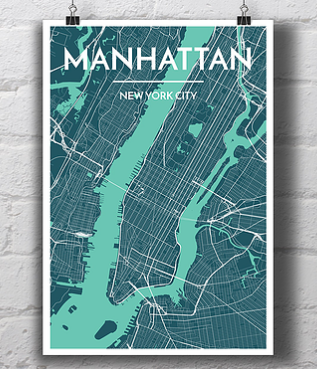 Manhattan City Map