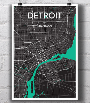 Detroit City Map