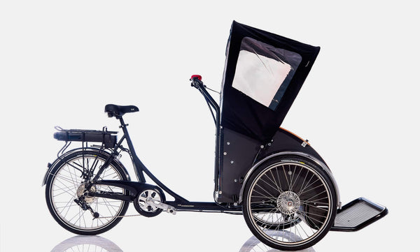 "Christiania Model ""T"" Taxi Bike with Electronic Assist Hub Motor"