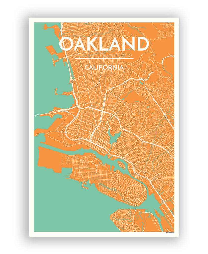 Oakland City Map