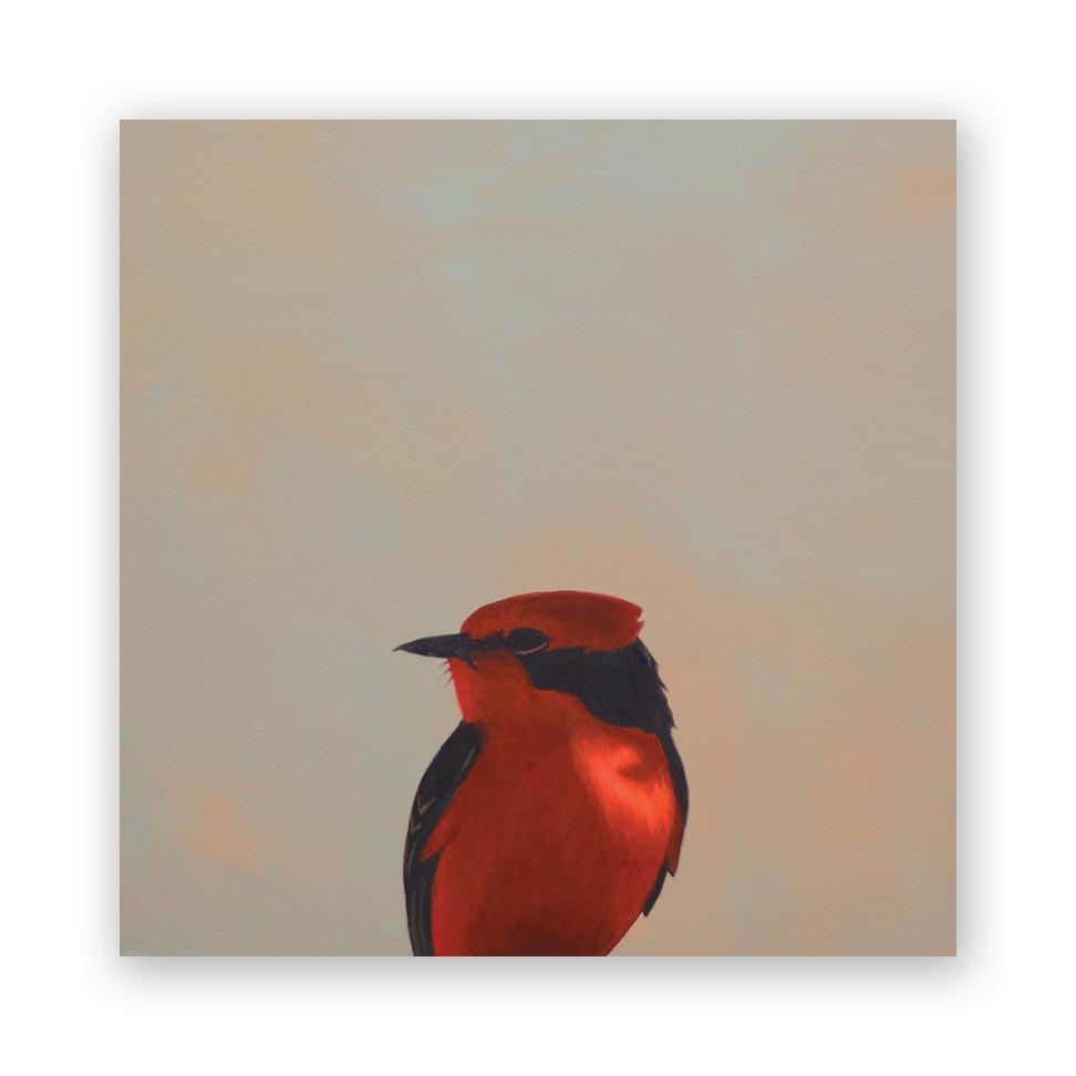 Vermilion Flycatcher -  Wings on Wood®