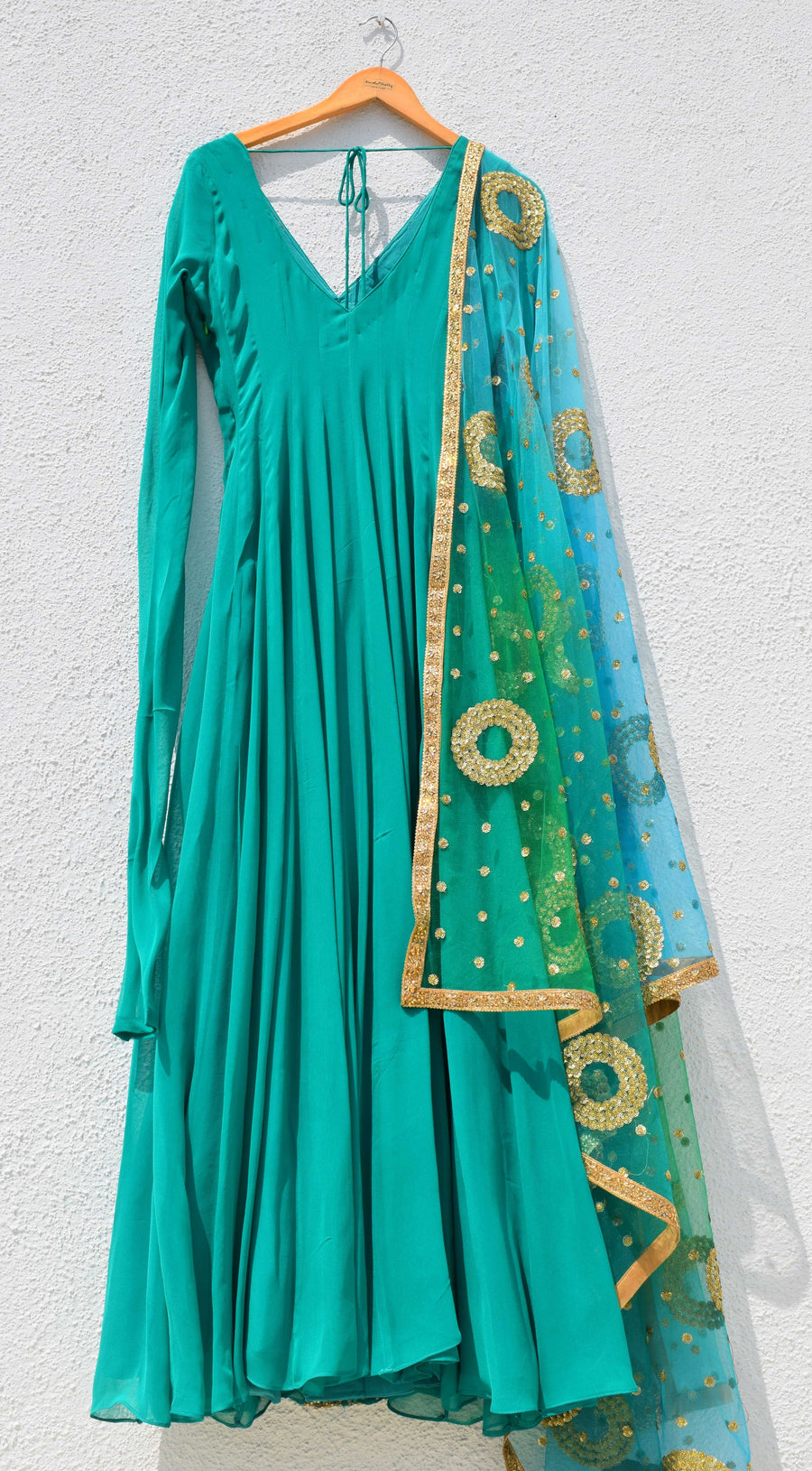 Pine Green Anarkali Set - WaliaJones