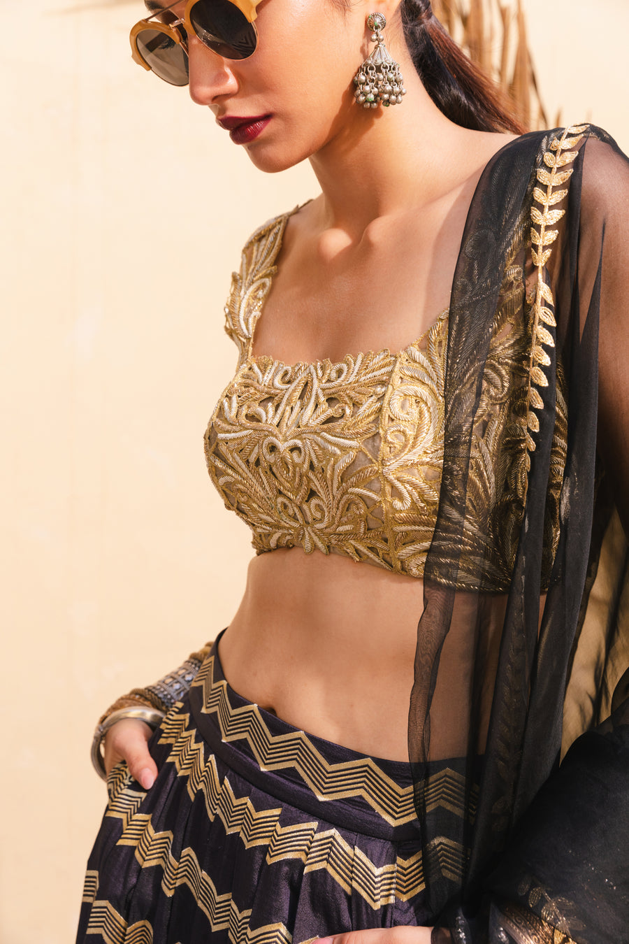 Benarasi Silk and gold Lehenga Set - WaliaJones