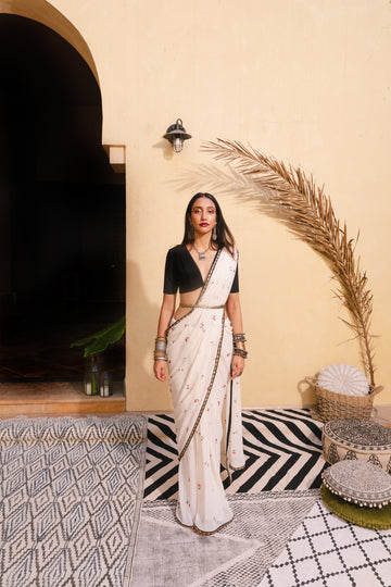 Cherry Saree and Vintage Crop - WaliaJones