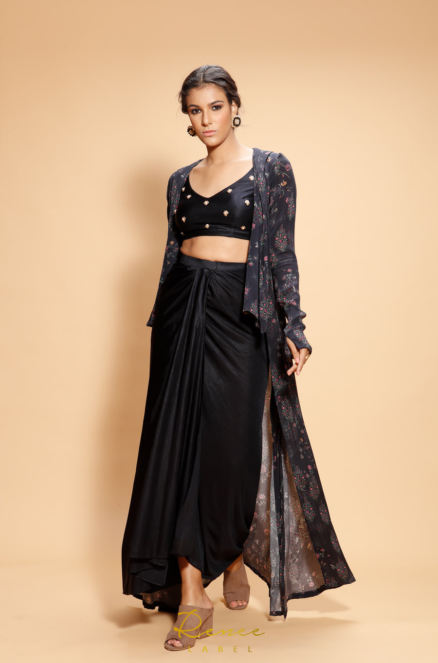 The Black Friya Lehenga Set - WaliaJones