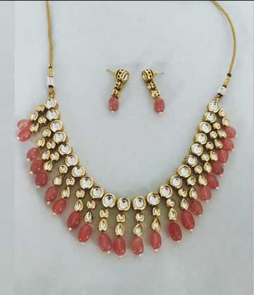 Sangam Blush Pink Earrings & Necklace Set